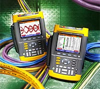Fluke 225C and 215C – Color ScopeMeters with Industrial Bus Health Test capability