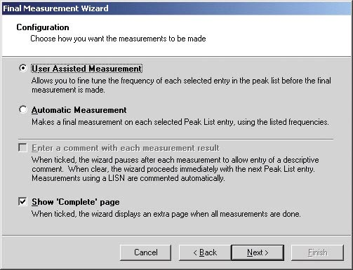 The Final Measurement Wizard